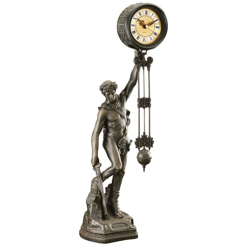 Be Crowned with Victory Sculptural Pendulum Clock