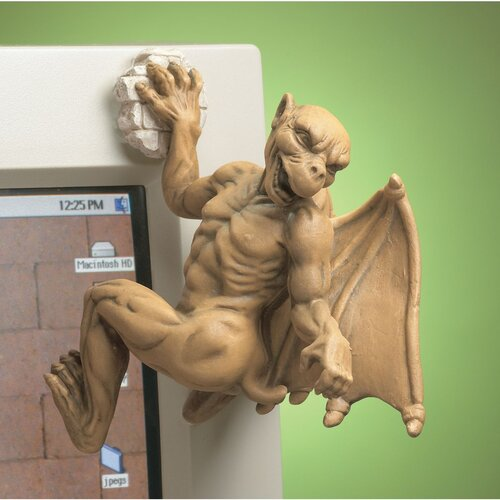 Gaston the Gothic Gargoyle Computer Climber Figurine
