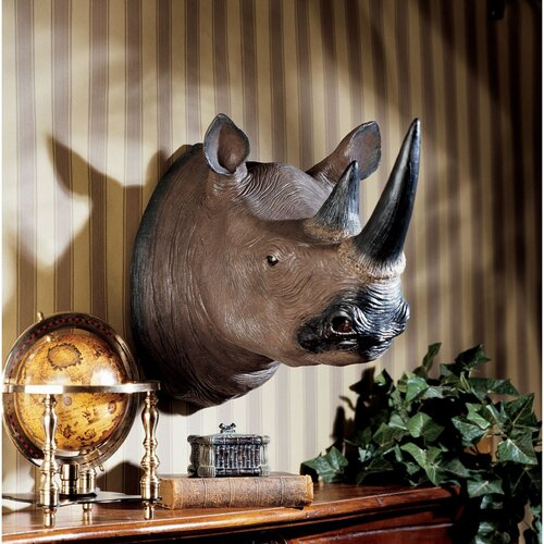 Design Toscano Black Rhinoceros Wall Décor