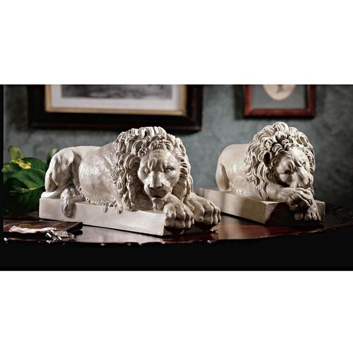 Design Toscano Lions from the Vatican Sculpture