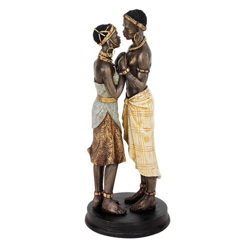 Design Toscano Body and Soul African Lovers Statue