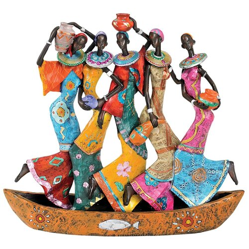 Design Toscano The Maiden Water Carriers of Ghana Figurine