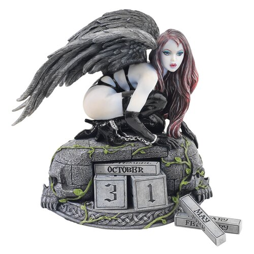 Design Toscano The Gothic Temptress of Time Perpetual Calendar Figurine