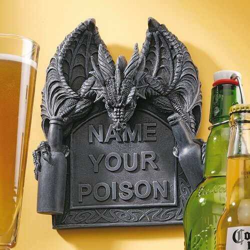 Design Toscano Name Your Poison Wall Décor