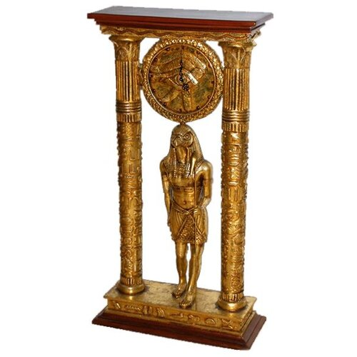 Egyptian Royal Temple of Amun Clock Statue