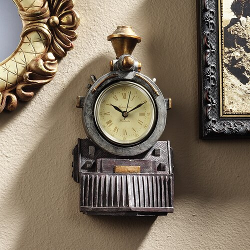 Design Toscano All Aboard Locomotive Train Wall Clock