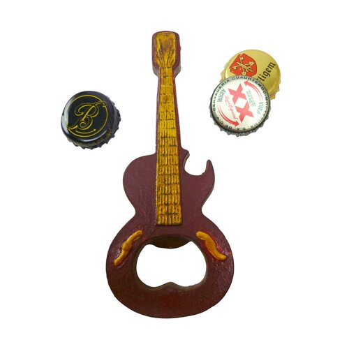 Design Toscano Rock and Roll Guitar Cast Iron Bottle Opener