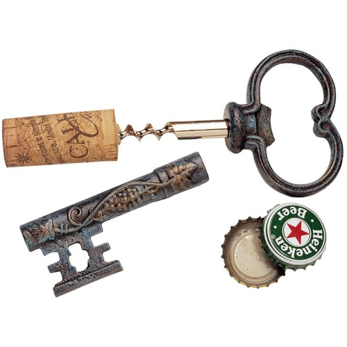 Design Toscano The Bishop's Church Key Corkscrew and Bottle Opener