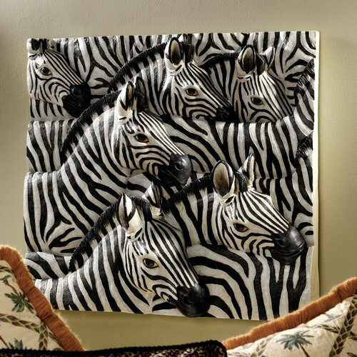 Design Toscano Parade of Stripes Sculptural Wall Décor
