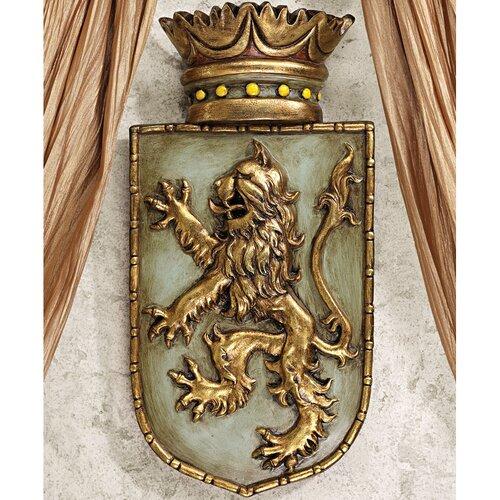 Design Toscano Medieval Rampant Lion Shield Wall Décor