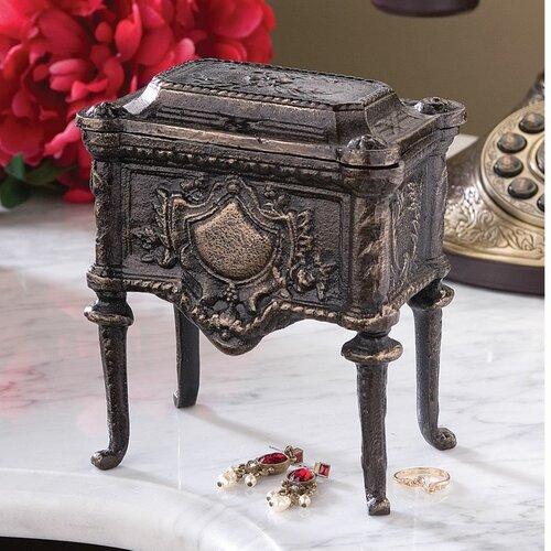 Design Toscano French Empire Authentic Foundry Cast Iron Box
