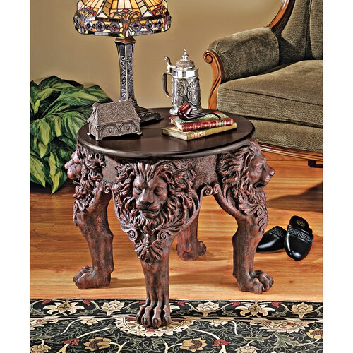 Design Toscano Lord Raffles Lion Leg End Table