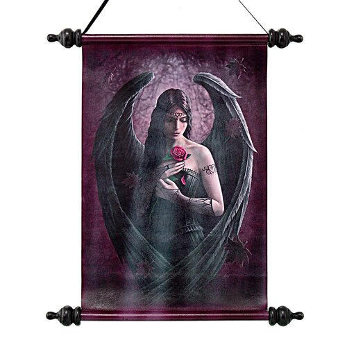 Design Toscano Angel Rose Canvas by Anne Stokes Wall Scroll Tapestry