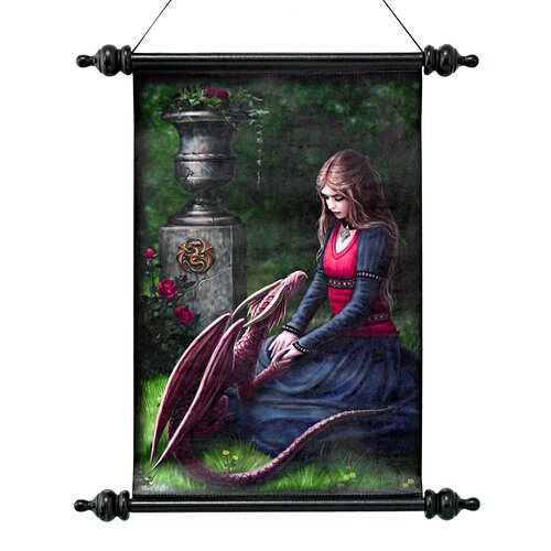 Design Toscano Secret Garden Canvas by Anne Stokes Wall Scroll Tapestry