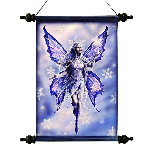 Design Toscano Snow Fairy Canvas by Anne Stokes Wall Scroll Tapestry