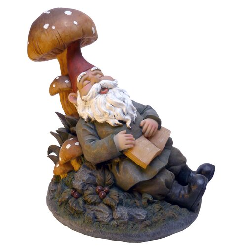 Design Toscano Snoozing Booker the Garden Gnome Statue