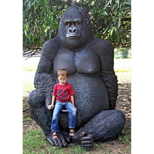 Giant Male Gorilla Statue