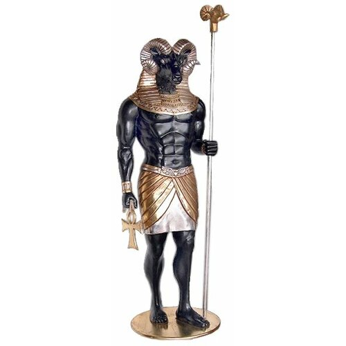 Design Toscano The Egyptian Grand Ruler Life - Size Khnum Statue