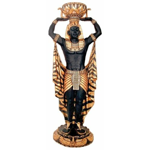 Cleopatra's Egyptian Nubian Guard Scale Statue