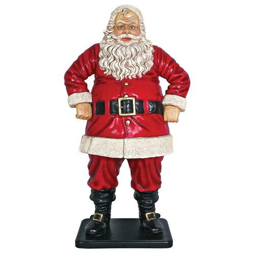 Design Toscano Jolly Santa Claus Large Statue
