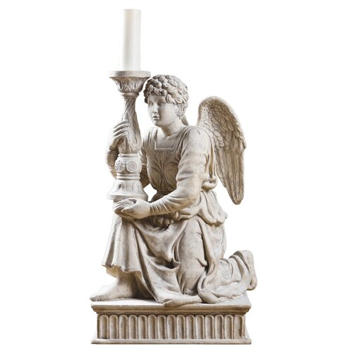 Michelangelo's Kneeling Angel with Candlestick Statue