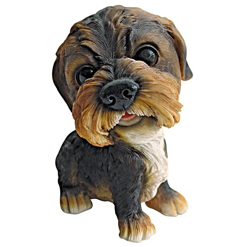 Prized Pup Border Terrier Puppy Dog Statue