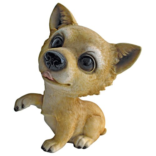 Design Toscano Prized Pup Chihuahua Puppy Dog Statue