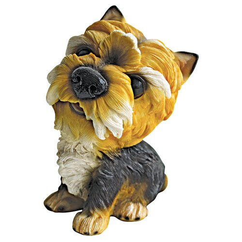 Yorkshire Prized Pup Terrier Puppy Dog Statue