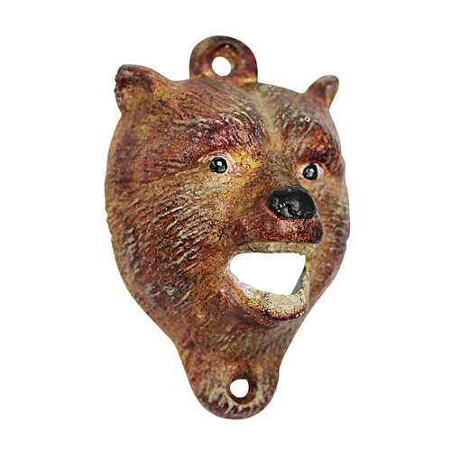 Design Toscano Brown Bear of the Forest Bottle Opener (Set of 2)