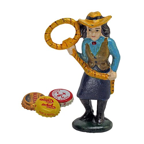 Design Toscano Lasso Lil the Cowgirl Bottle Opener