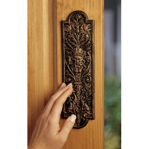 Design Toscano Greenman Door Plate
