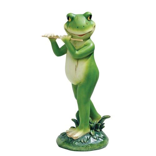 Garden Jazz Frog Musician Flute Frog Statue