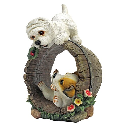 Design Toscano Playful Puppy Dogs Statue