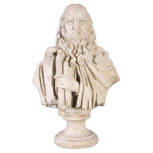 Grand Leonardo da Vinci - Scale Sculptural Bust Statue