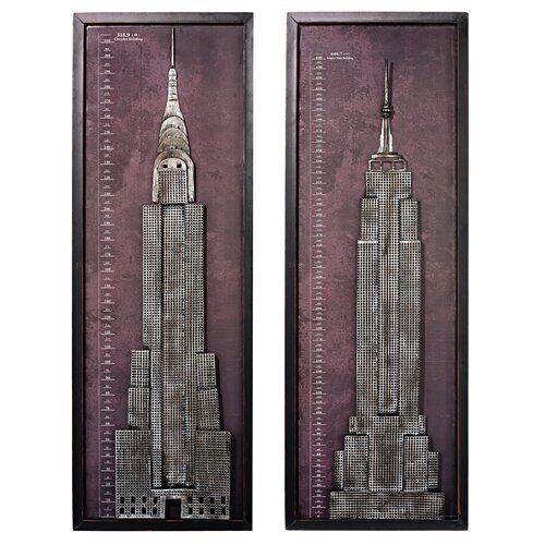 Design Toscano 2 Piece New York Skyscraper Wall Décor Set