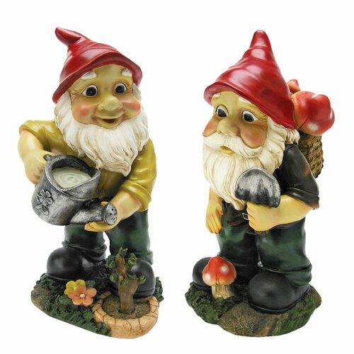Gulliver and Mushroonie Garden Gnome Statue