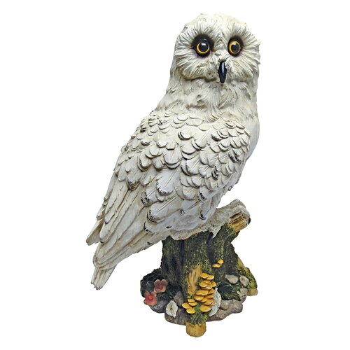 Mystical White Owl Statue