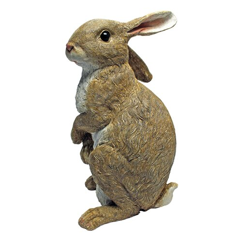 Design Toscano Hopper, the Bunny, Standing Garden Rabbit Statue