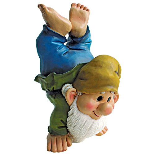 Design Toscano Handstand Henry the Garden Gnome Statue