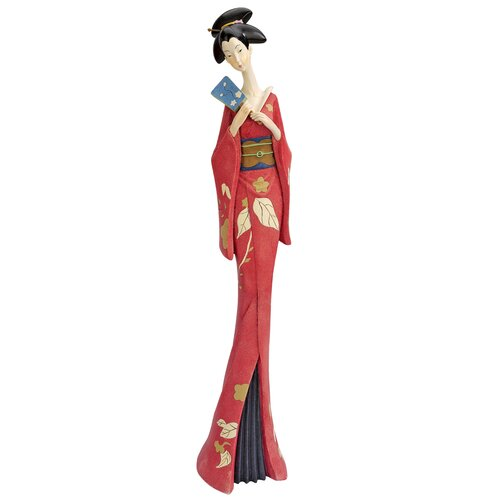 Japanese Maiko Geisha Teruha Fan Dancer Statue