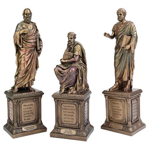 Design Toscano Master of Philosophy 3 Piece Statue Set