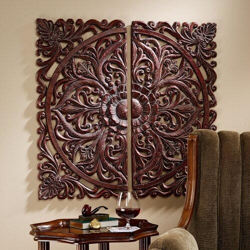 Design Toscano 2 Piece Carved Rosette Architectural Wall Décor Set