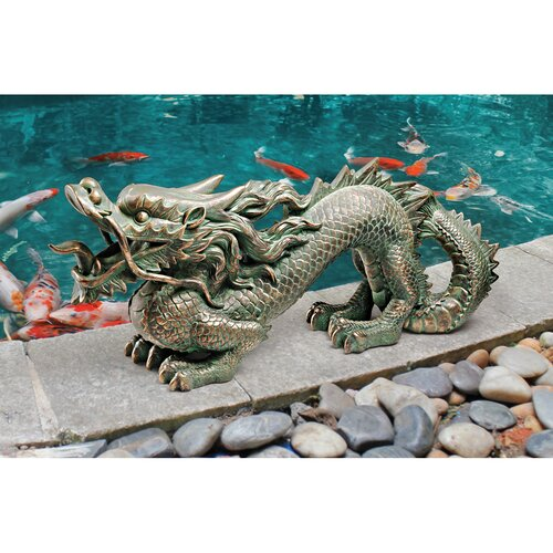 Asian Dragon of the Great Wall Statue