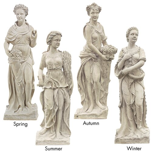Goddesses of the Four Seasons Spring Statue (Set of 4)