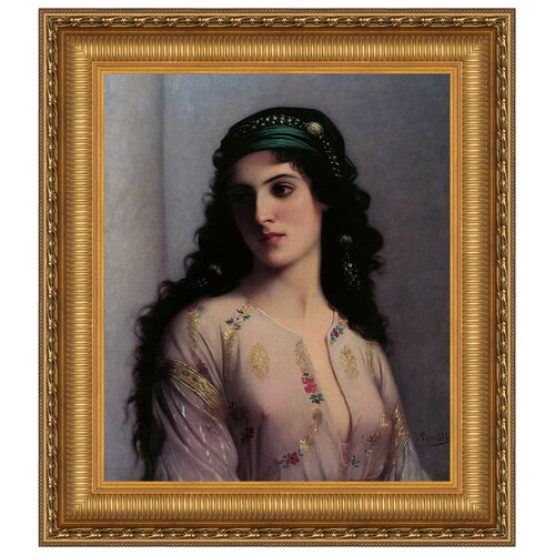 Jewish Girl in Tangiers by Charles Landelle Framed Painting Print