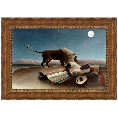 The Sleeping Gypsy, 1897 by Henri Rousseau Framed Painting Print