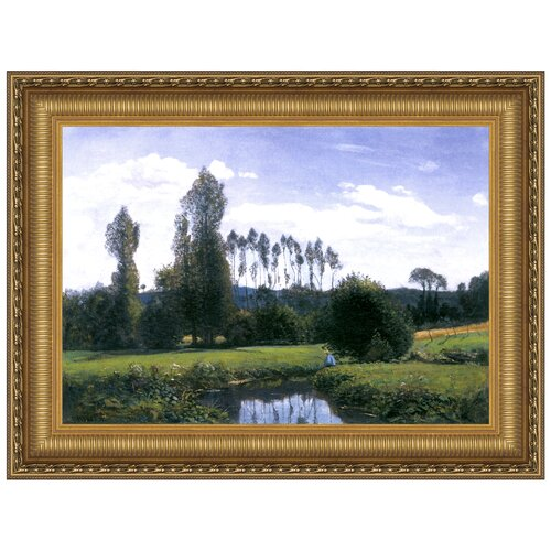 Design Toscano View at Rouelles Le Havre, 1858 by Claude Monet Framed Painting Print