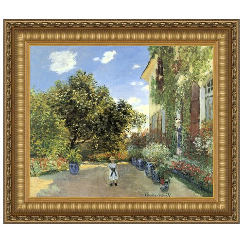 Artist's House at Argenteuil, 1873 by Claude-Oscar Monet Framed Painting Print
