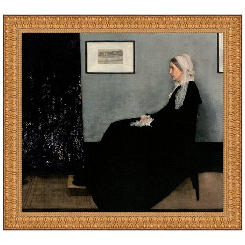 Portrait of the Artist's Mother, 1871 by James Abbott McNeill Whistler Framed Painting Print