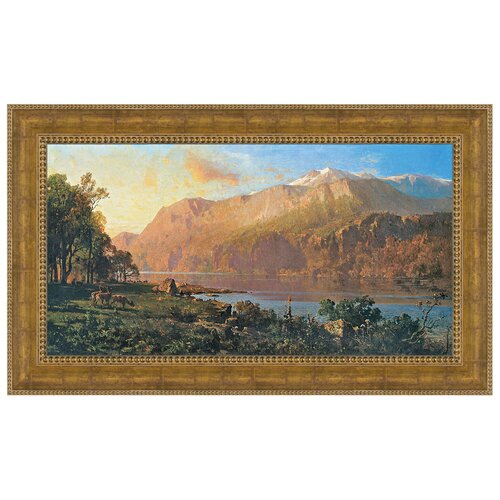 Emerald Lake Near Tahoe (1900), by Thomas Hill Framed Painting Print